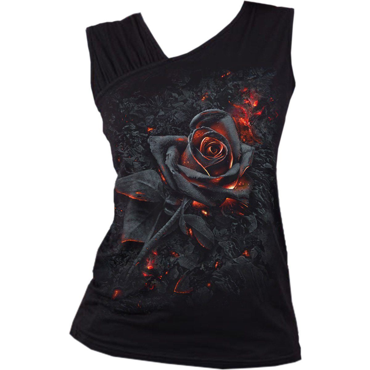 Burnt Rose Women's Sleeveless Slant Top