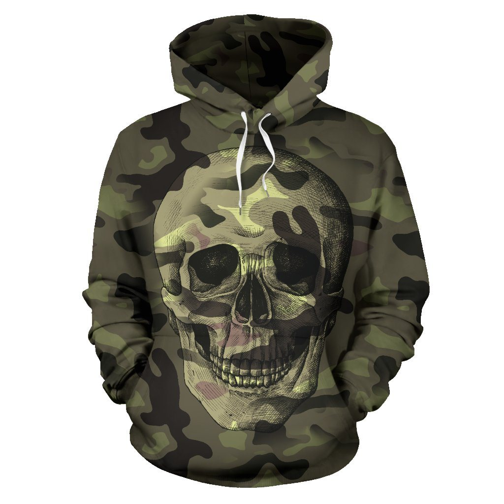 Camo Skull All Over Hoodie