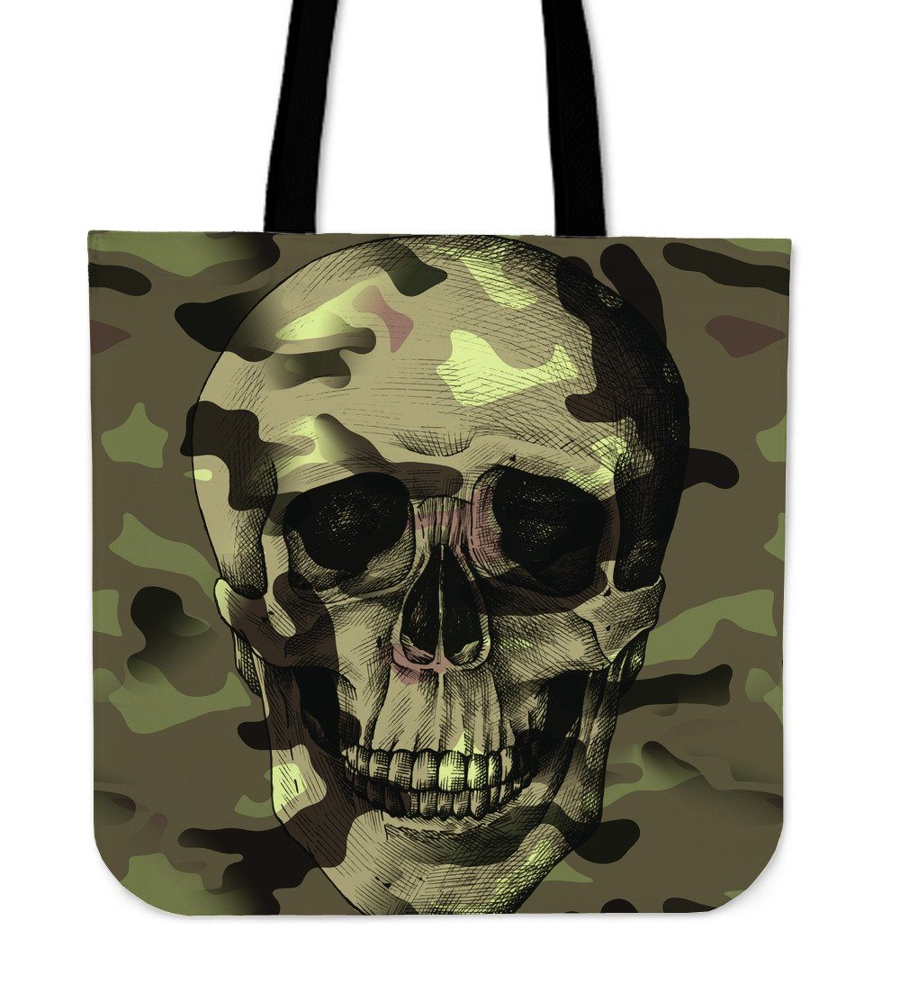 Camo Skull Cloth Tote Bag