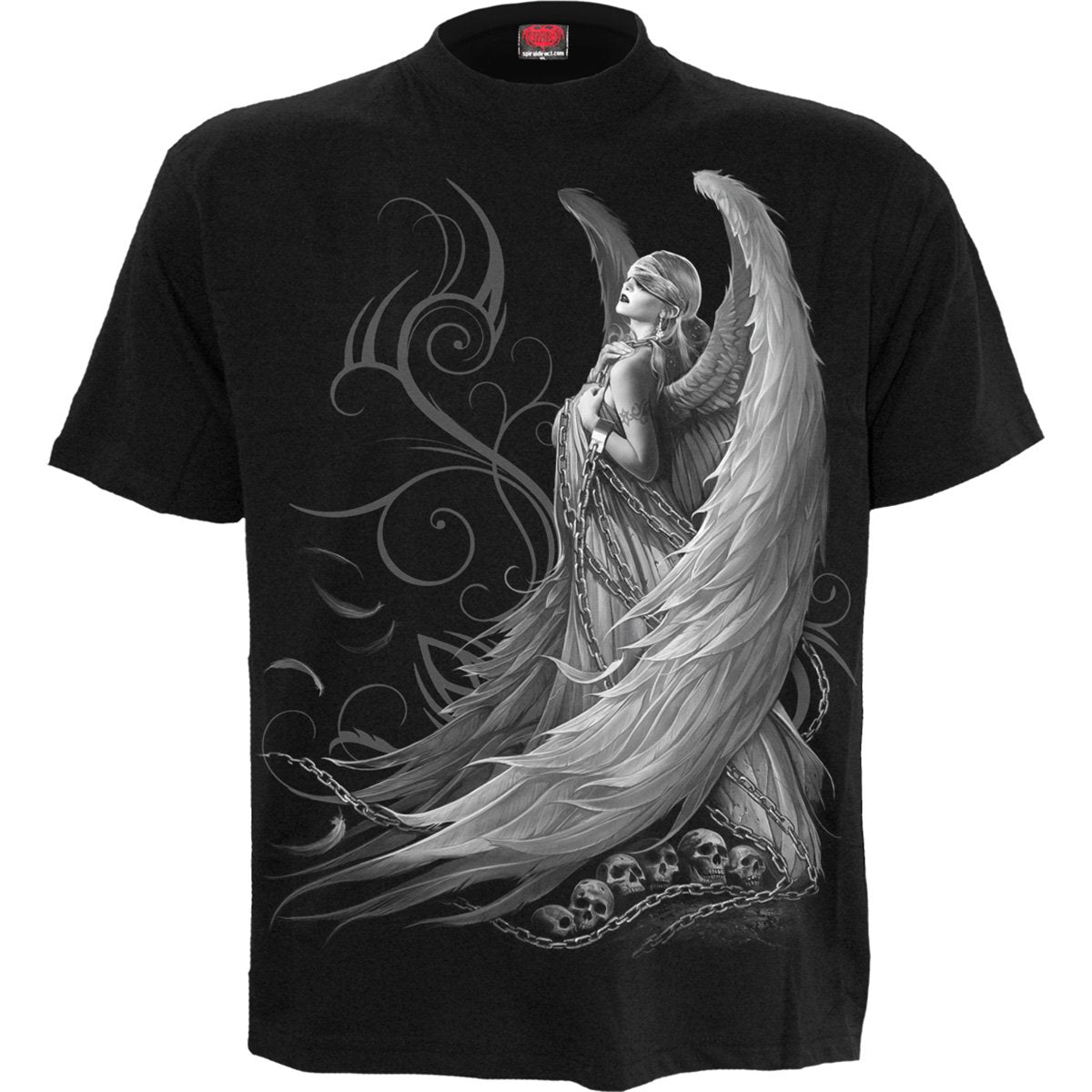 Captured Angel Men's Black T-Shirt