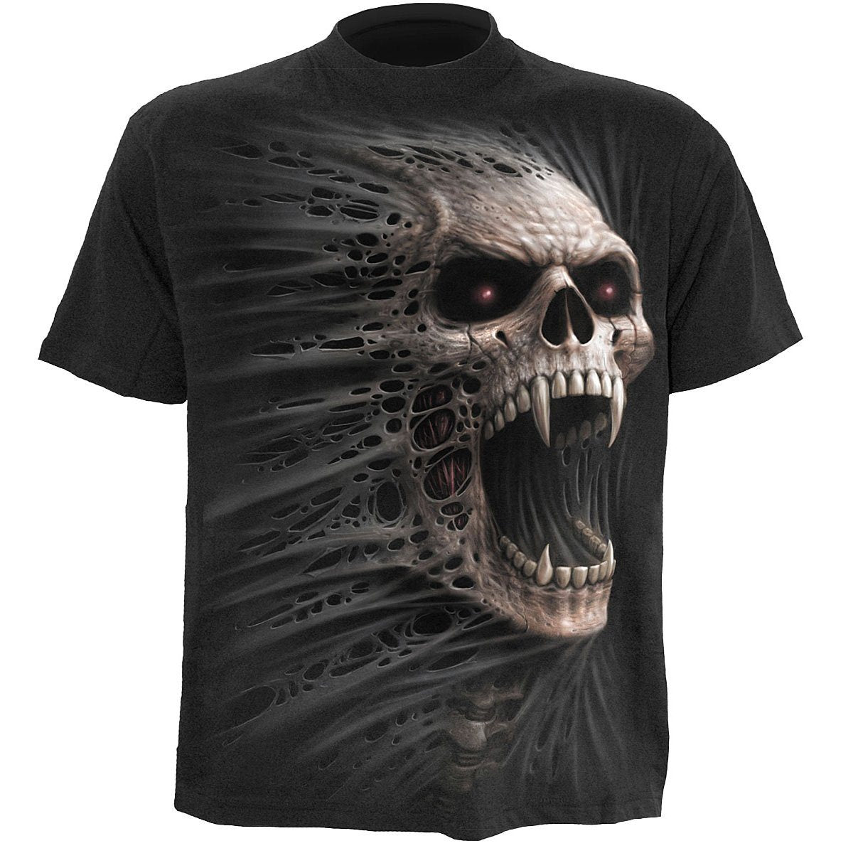 Morphing 3D Skull Men's Black T-Shirt