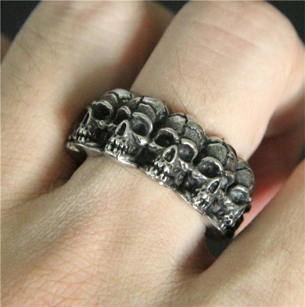 Catacomb Skull Stainless Steel Ring