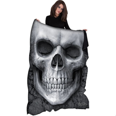 Classic Solemn Skull Fleece Blanket - Rebels Depot