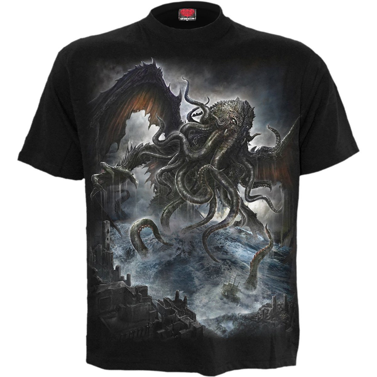 Terror From The Depths Men's Black T-Shirt