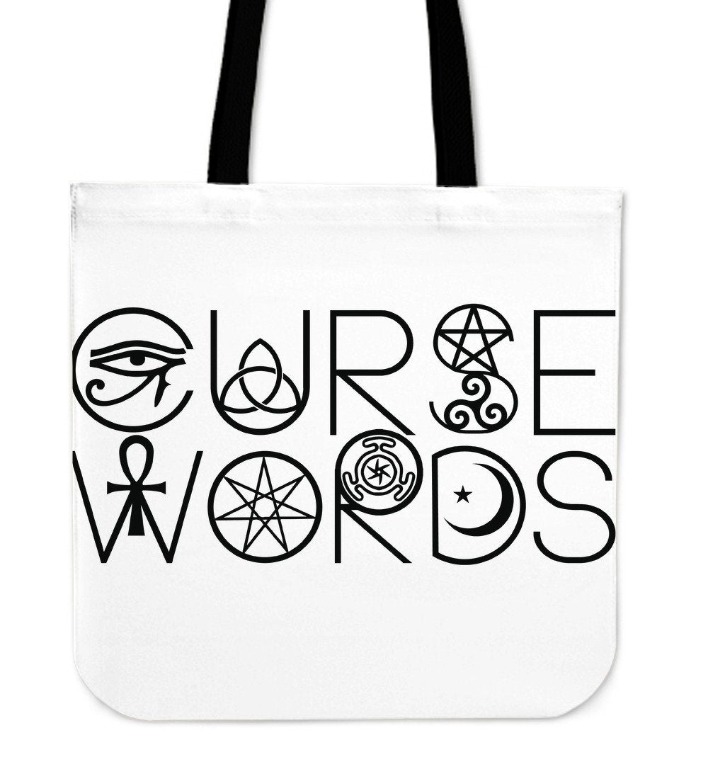 Curse Words Wiccan Cloth Tote Bag