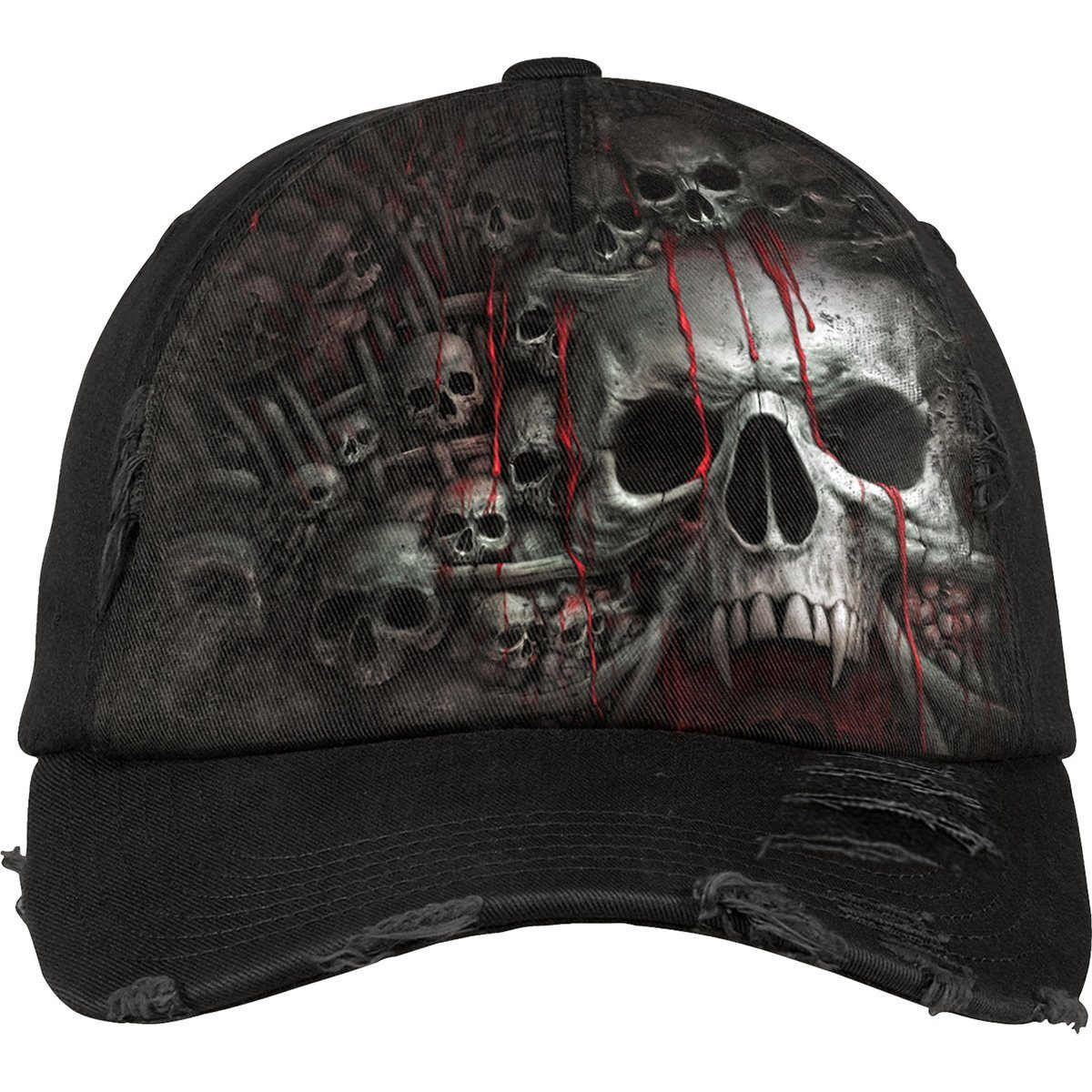 DEATH RIBS - Skull and Gore Baseball Cap - Rebels Depot