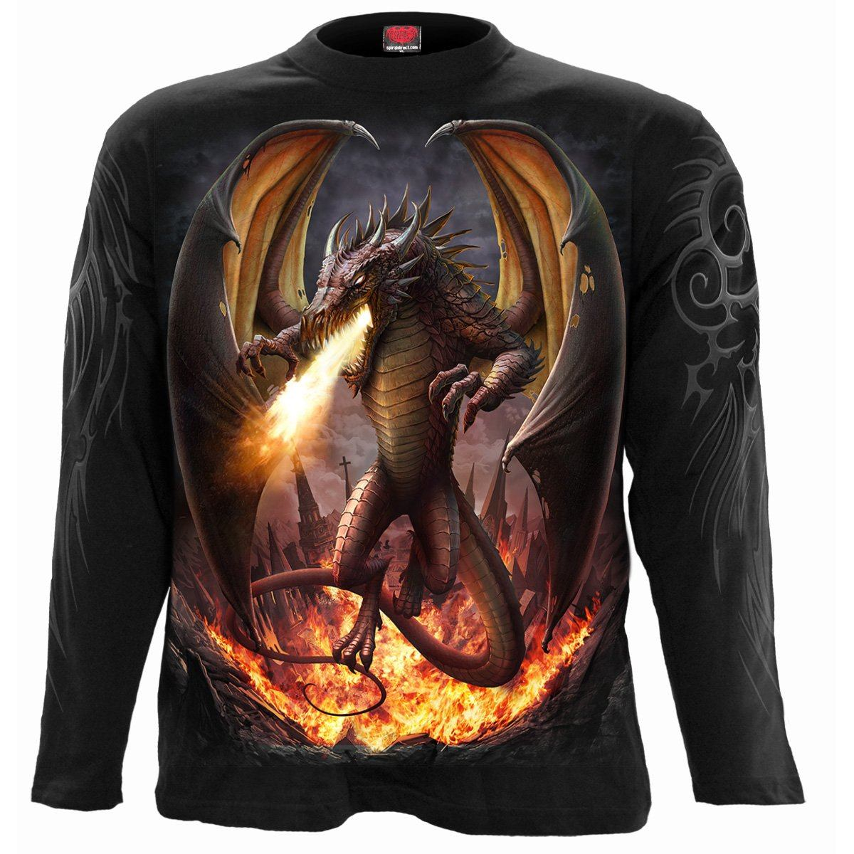 DRACO UNLEASHED - Rampaging Dragon Longsleeve Shirt