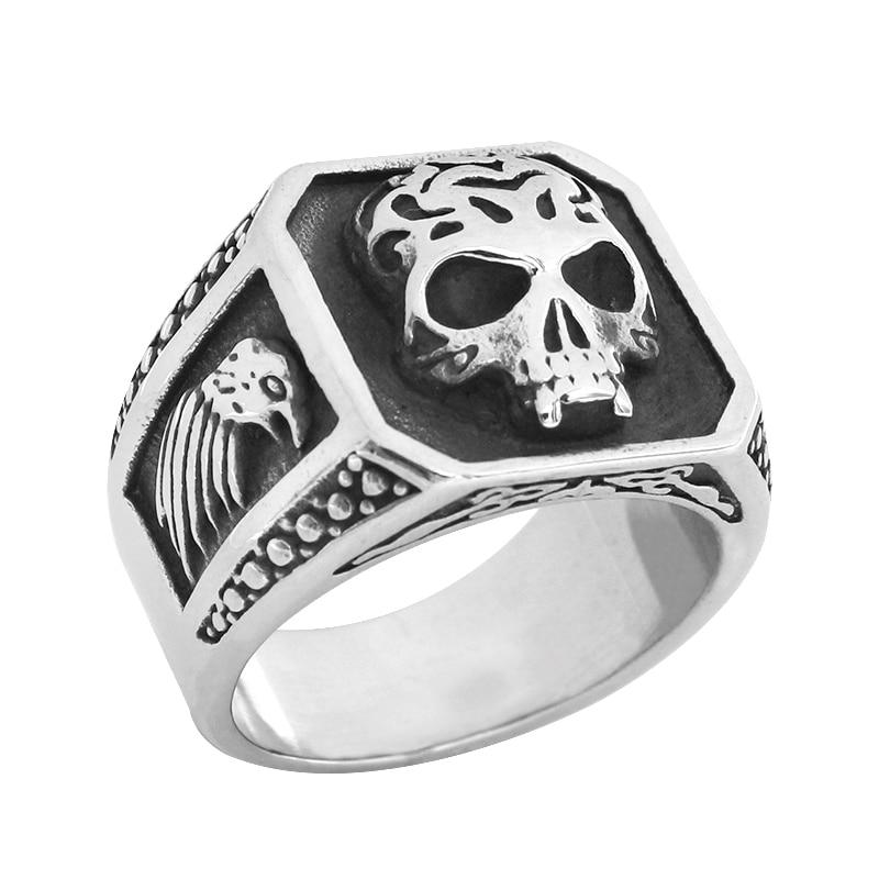 Eagle Skull Stainless Steel Ring