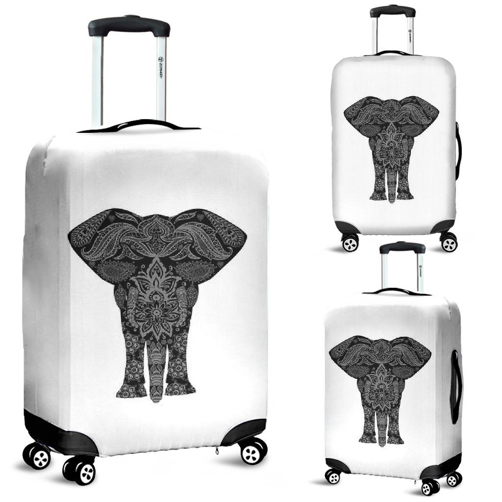 Mandala Elephant Luggage Cover