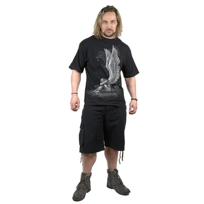 Angel Of Sorrow Men's Black T-Shirt - Rebels Depot