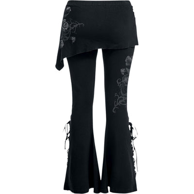 Deadly Roses Gothic - Boot Cut Womens Leggings - Rebels Depot