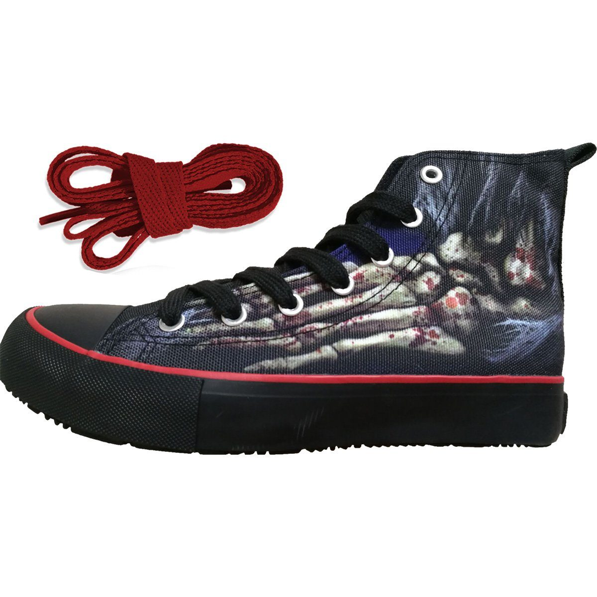 Foot Bone Women's High-Top Sneakers - Rebels Depot