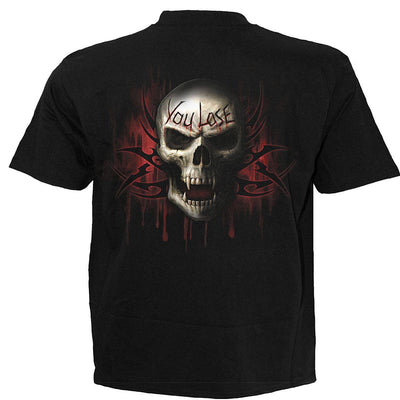 Game Over Grim Reaper Kid's Black T-Shirt - Rebels Depot