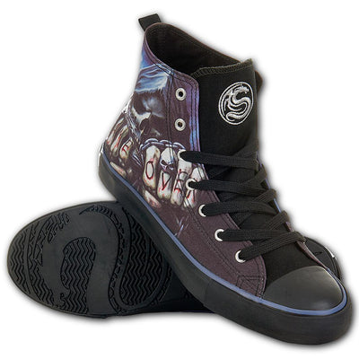 Game Over Skull Men's High-Top Sneakers - Rebels Depot