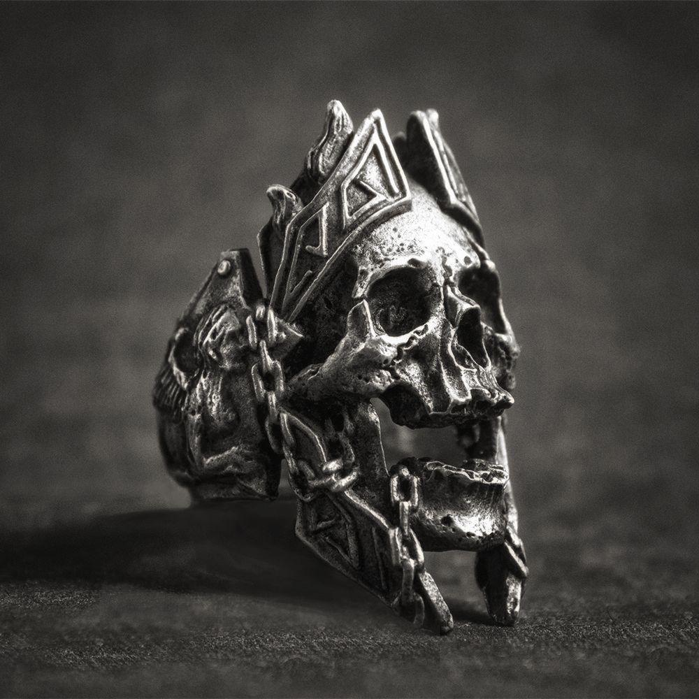 Gods of War Stainless Steel Skull Ring