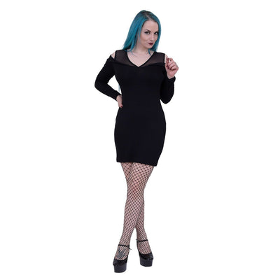 Alluring Darkness Long Sleeve Dress - Rebels Depot