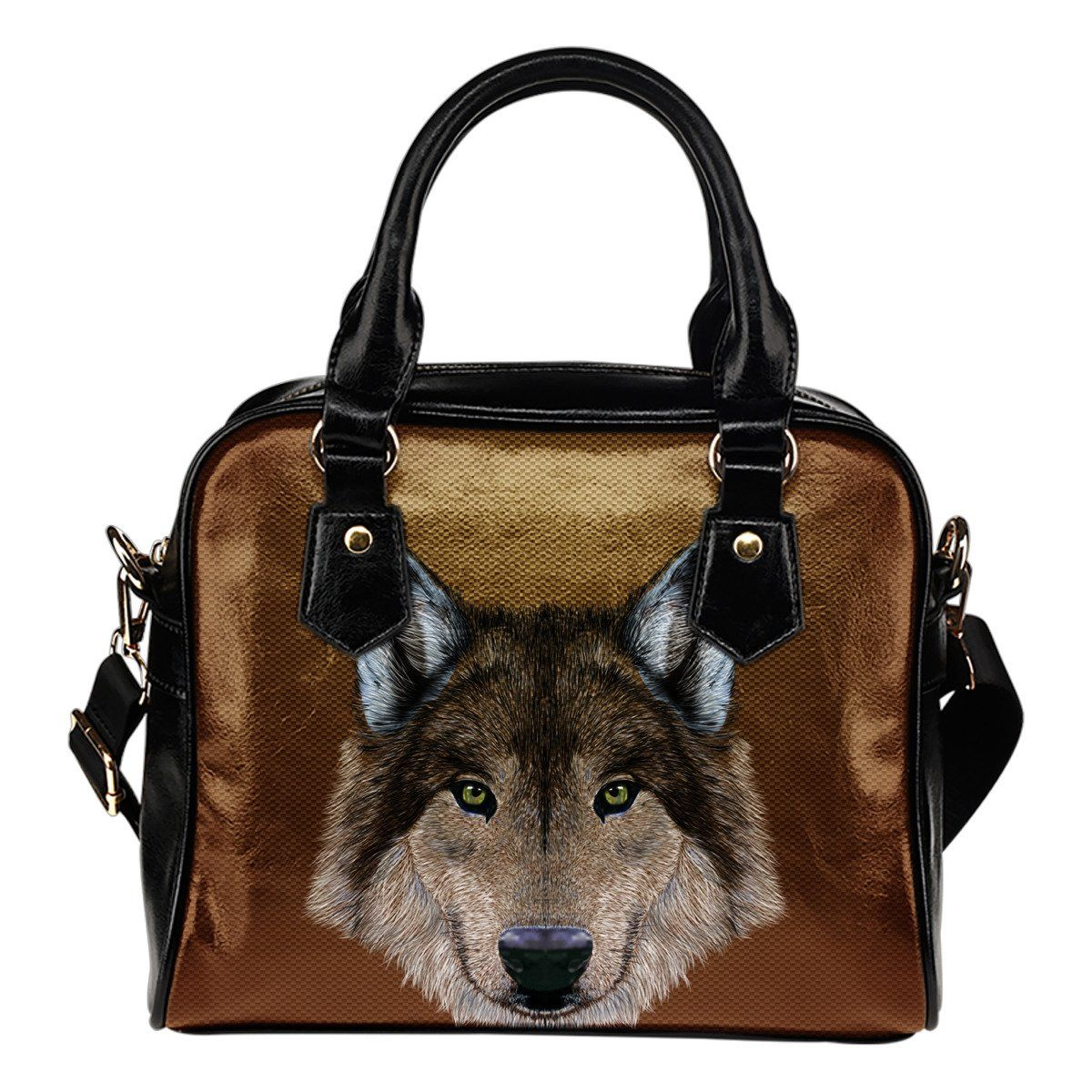 Gray Wolf Leather Handbag