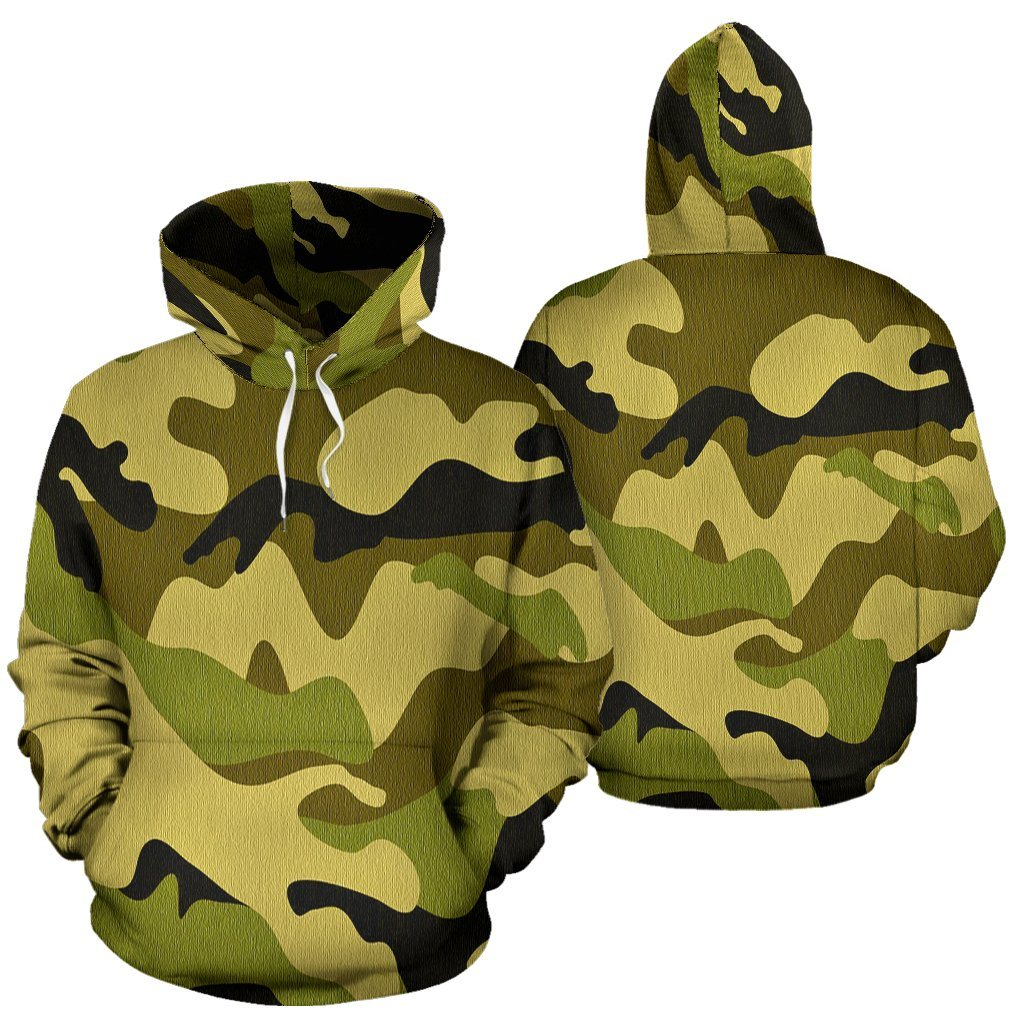 Green Camo All Over Hoodie