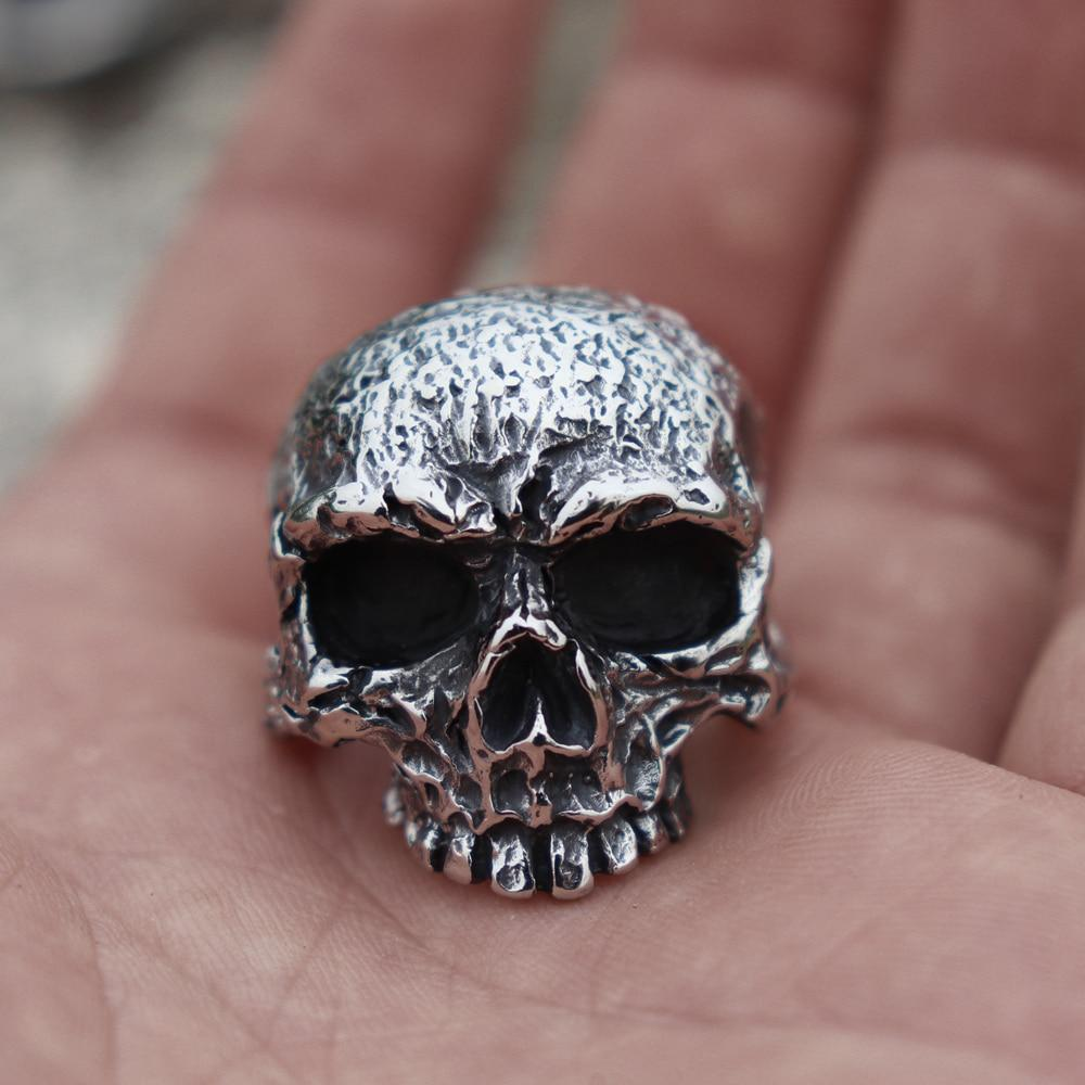 Death's Head Stainless Steel Skull Ring