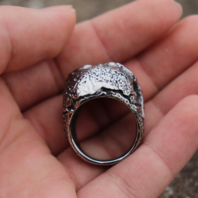 Death's Head Stainless Steel Skull Ring - Rebels Depot