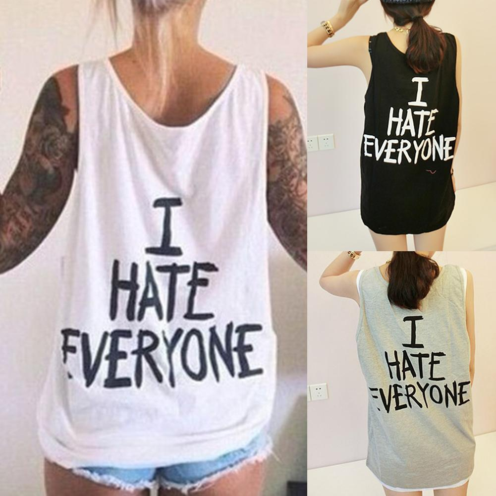 """I Hate Everyone"" Women's Funny Tank Top"