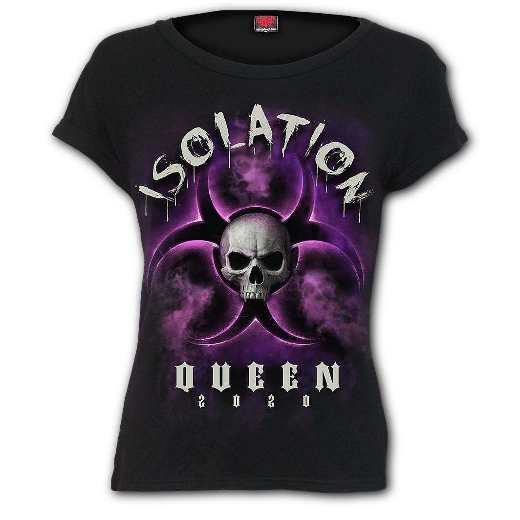 Isolation Queen Women's Black Short Sleeve