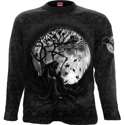 Death's Reaper Men's Black Longsleeve Shirt - Rebels Depot