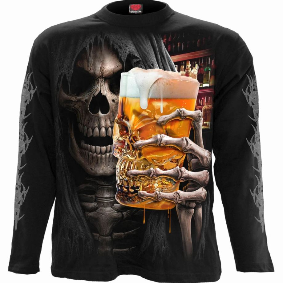 Living Loud Grim Reaper Men's Black Longsleeve Shirt