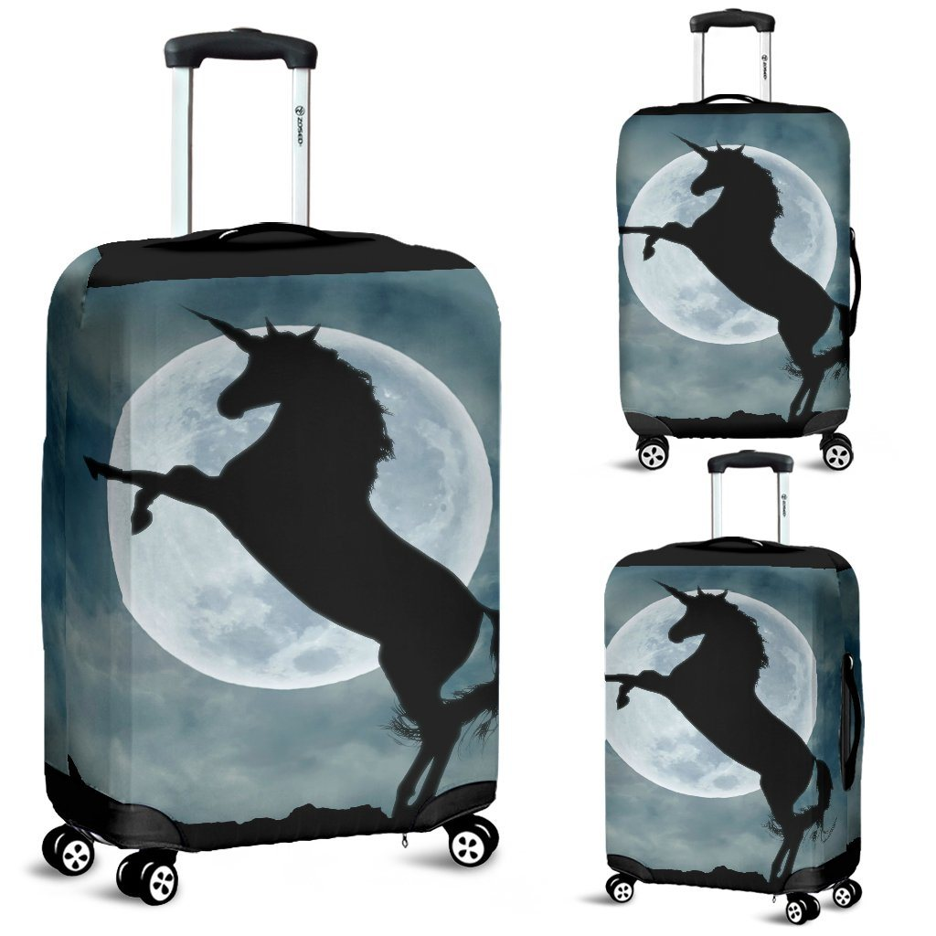 Moonlight Unicorn Luggage Cover