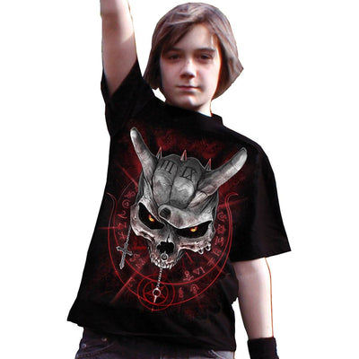 Living Loud Skull Kid's Black T-Shirt - Rebels Depot