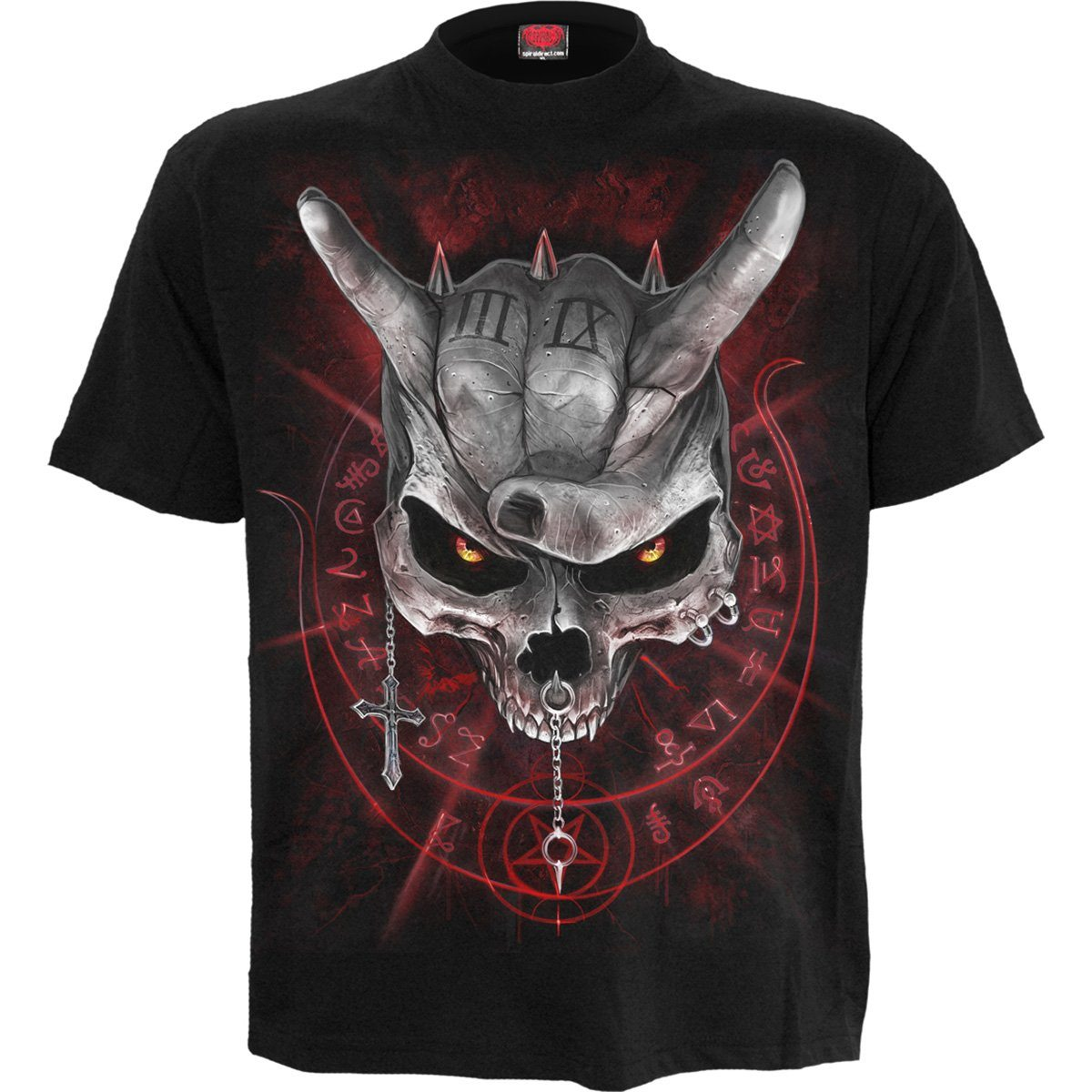 Living Loud Skull Kid's Black T-Shirt