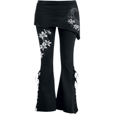 Heart Flowers Gothic - Boot Cut Womens Leggings - Rebels Depot