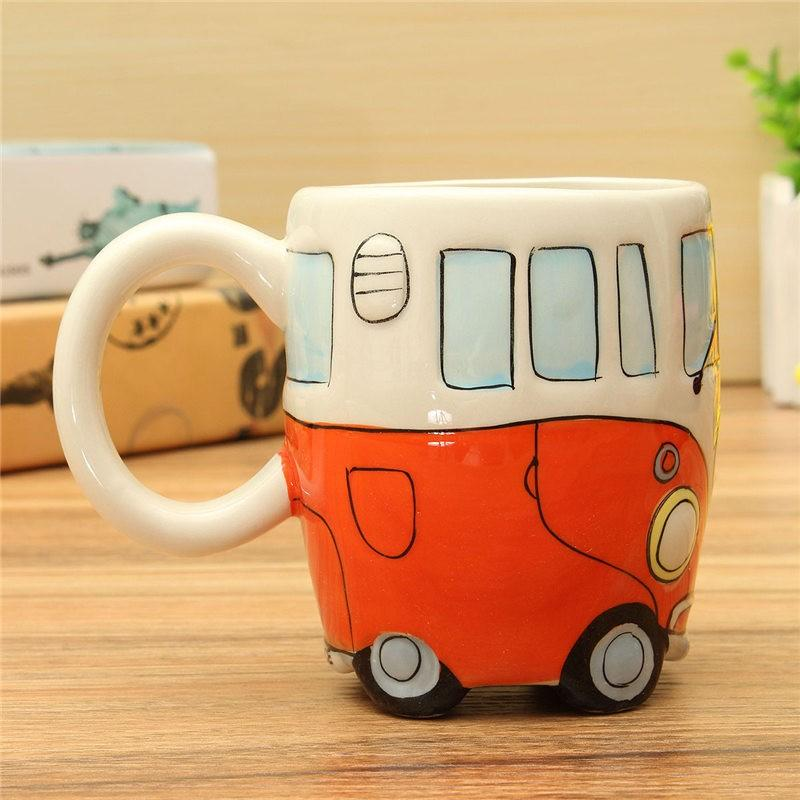 Retro 60's Peace Bus Ceramic Coffee Mug
