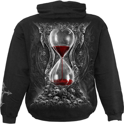 Death Skulls Hourglass Black Hoodie - Rebels Depot