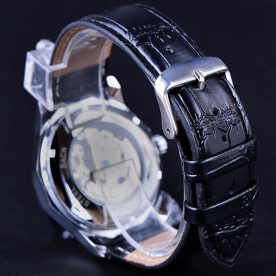 Skeleton Transparent Mechanical Wrist Watch - Rebels Depot