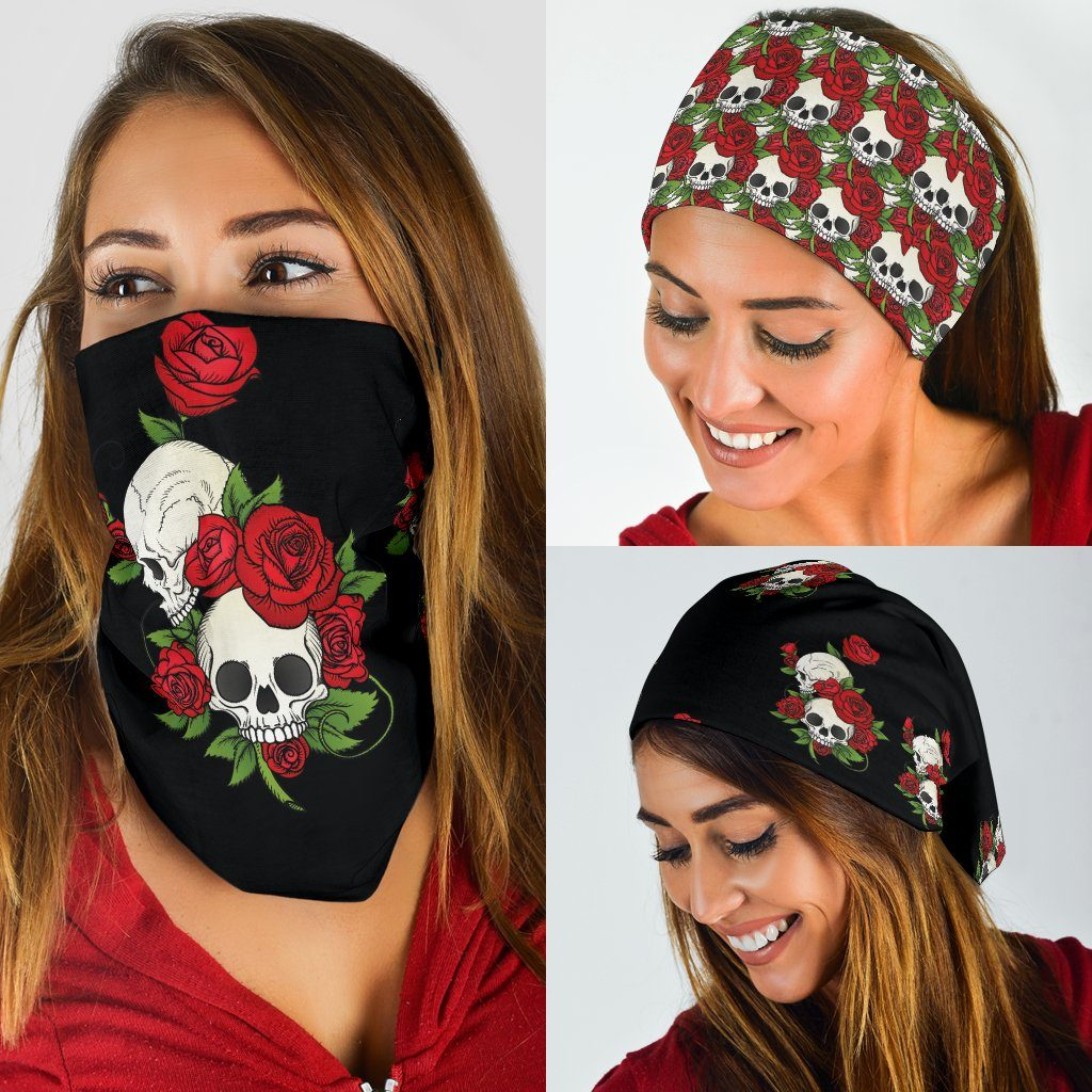 Skull and Roses Face Mask Balaclava's - 3 Pack