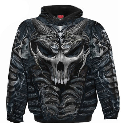 Robotic Skull Armor All Over Hoodie - Rebels Depot