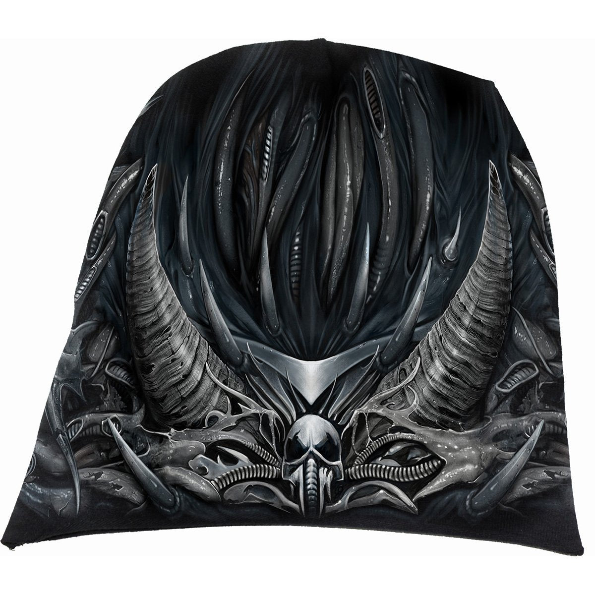 Armored Skull Warrior Men's Black Beanie - Rebels Depot