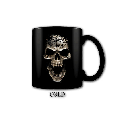 Erupting Flaming Skull Heat Changing Coffee Mug - Rebels Depot