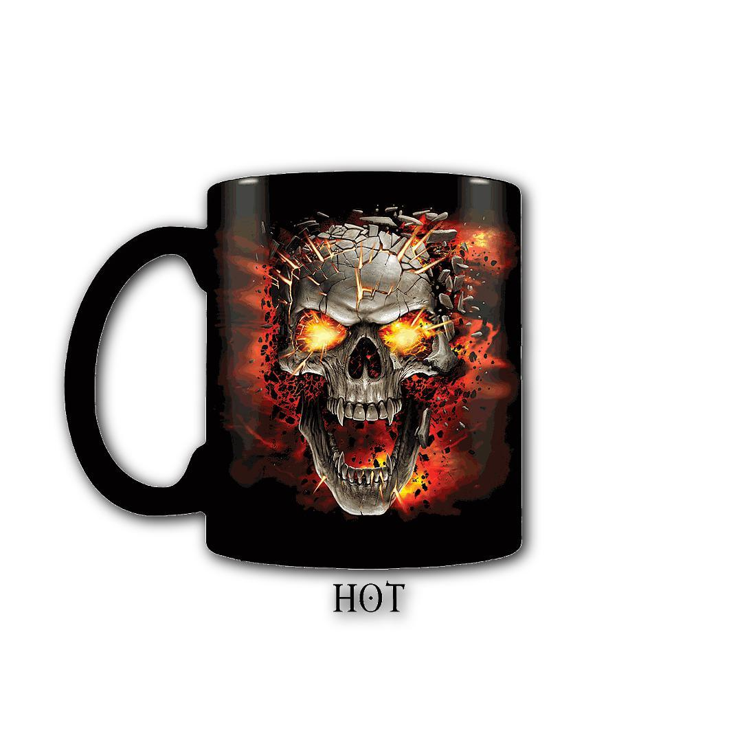 SKULL BLAST - Heat Changing Skull Coffee Mug - Rebels Depot