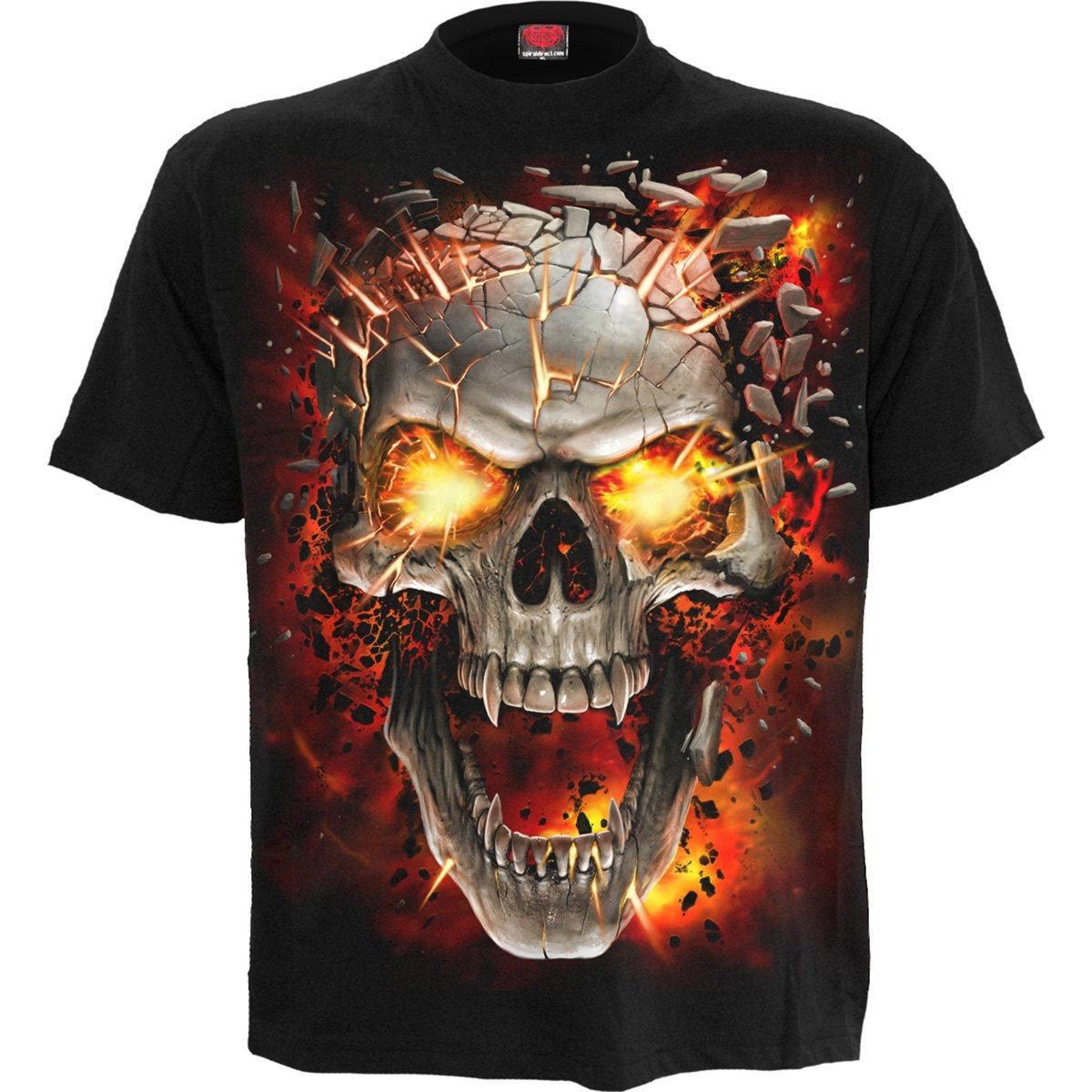 Demonic Skull Blast Kid's Black T-Shirt