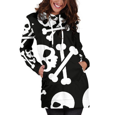 Skull & Crossbones Hoodie Dress - Rebels Depot