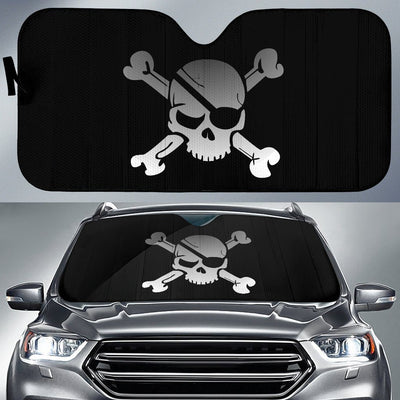 Skull & Crossbones Windshield Sun Shade - Rebels Depot