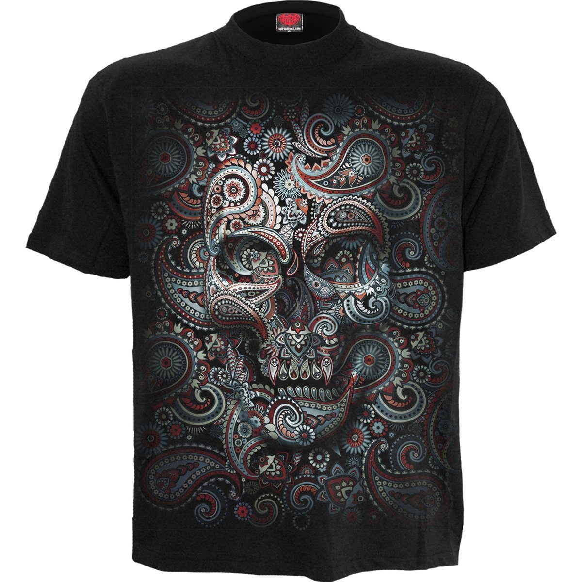 Tribal Skull Men's Black T-Shirt - Rebels Depot