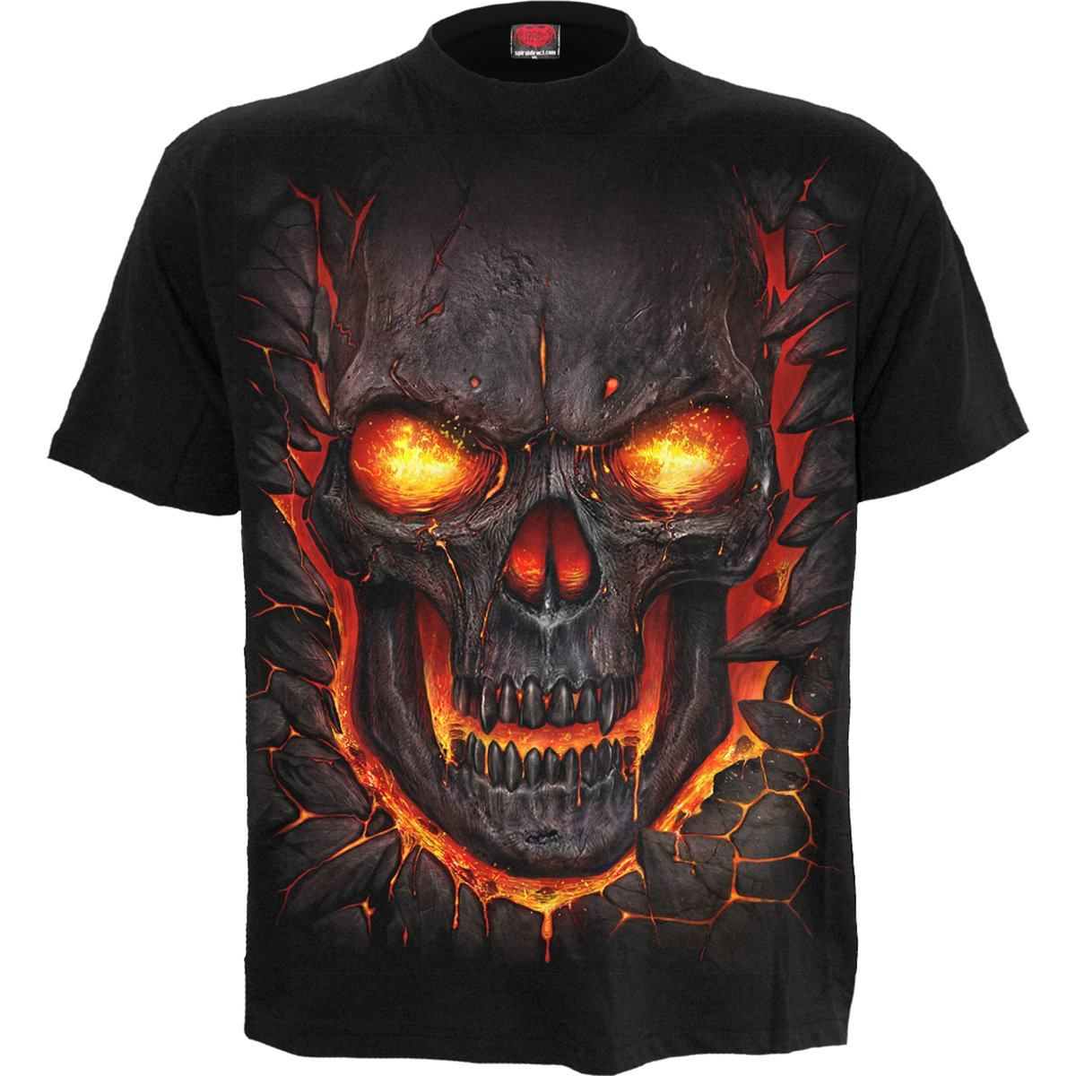 Lava Skulls Kid's Black T-Shirt