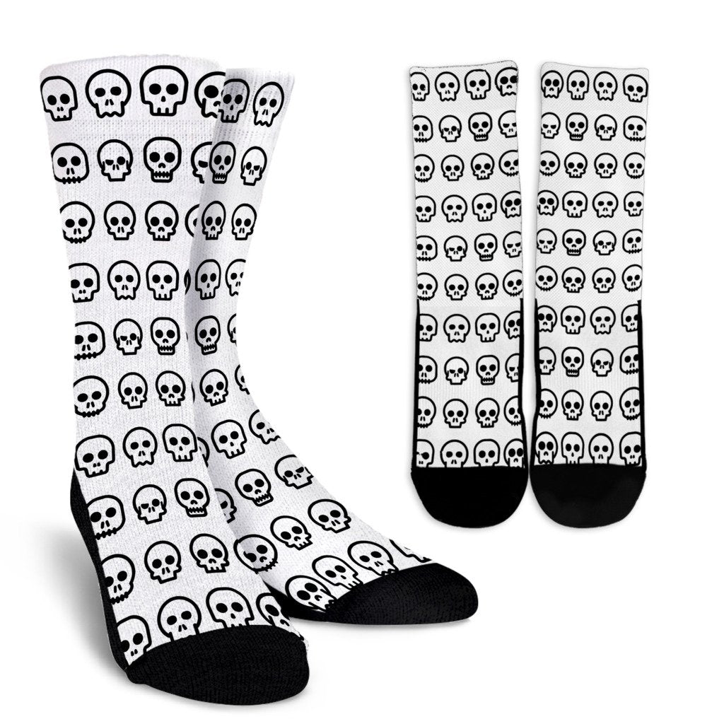 Cute Skully Crew Socks