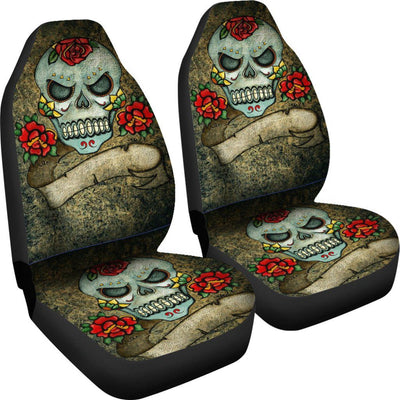 Sugar Skull & Roses Car Seat Covers - Rebels Depot
