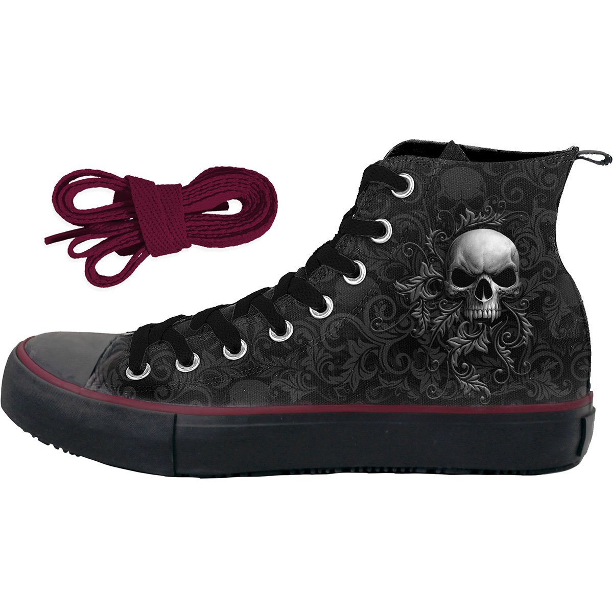 Scrolling Skulls Men's High-Top Sneakers