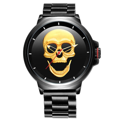 Skull Stainless Steel Wrist Watch - Rebels Depot