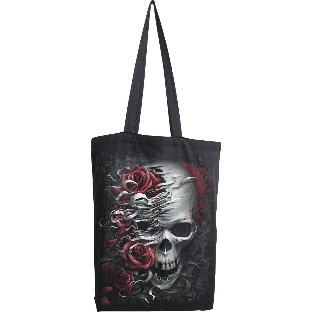 Skull and Roses Cloth Tote Bag